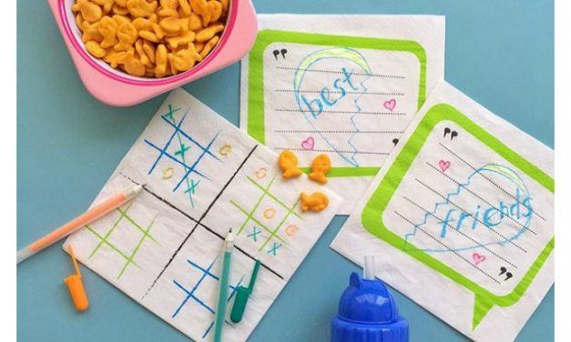 The lunch box napkins that can help kids make new friends