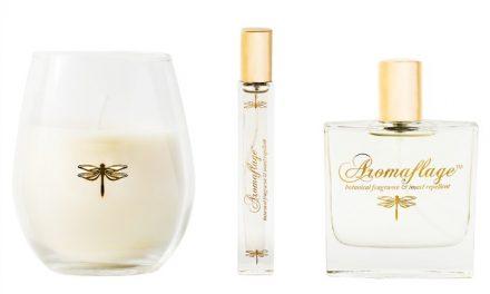 It's a perfume. It's a bug spray. It's my new best friend.