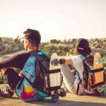 Skateboarding to school just got a lot easier. And cooler.