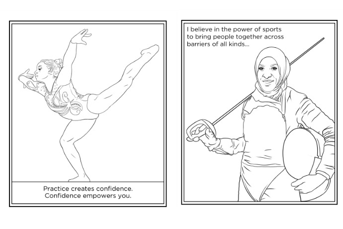 Were Cheering For These Free Female Olympian Coloring Pages Let The Games