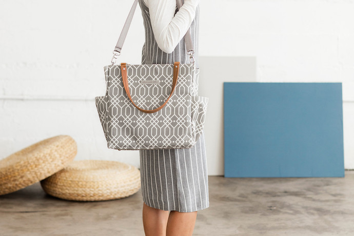 Finally, a stylish breast pump tote. Thanks, Petunia Pickle Bottom.