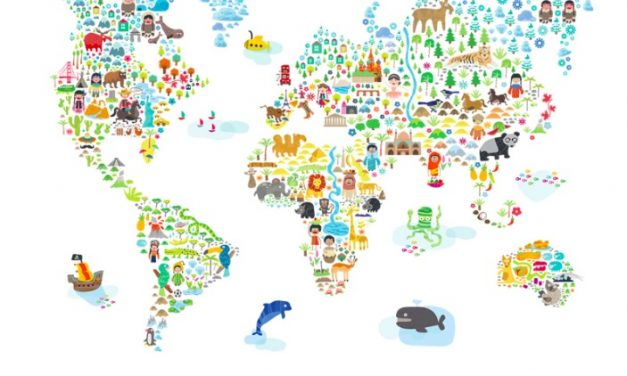 3 extremely cool world map decals to get kids excited about geography