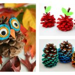 6 adorable pinecone crafts that go way beyond wreaths. Hello, fall!