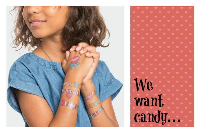 We want candy! Candy temporary tattoos, that is.