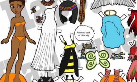 The coolest free printable Halloween paper dolls with costumes from sweet to steampunk to Star Wars