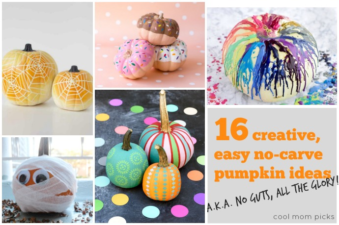 16 seriously creative no-carve pumpkin decorating ideas for all of the fun, none of the pumpkin guts!