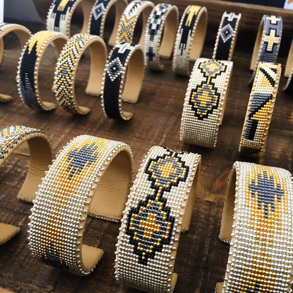 The stunning Native American bracelets from Etkie: Made by Navajo artisans to preserve the craft and provide a living wage