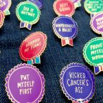 Everyday Bravery Pins by Emily McDowell: Because sometimes just getting out of bed deserves a medal