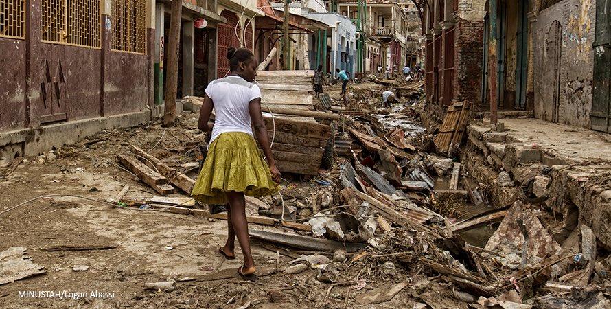 How to help the Haiti Hurricane victims | photo: MINUSTAH via UN Women