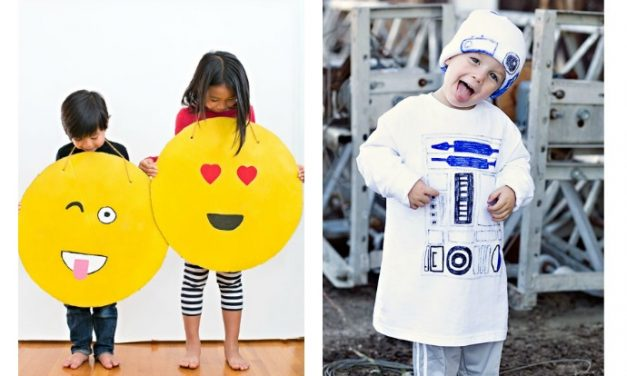 Super easy last-minute Halloween costumes for kids that you can make in 10 minutes or less.