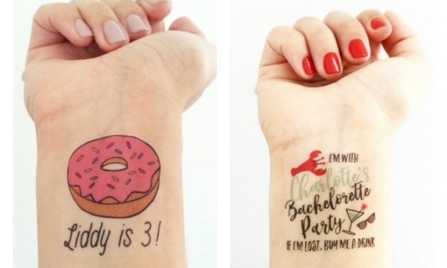 Cool custom temporary tattoos from Love and Lion that we want for our special events. (Or, heck, just any event.)