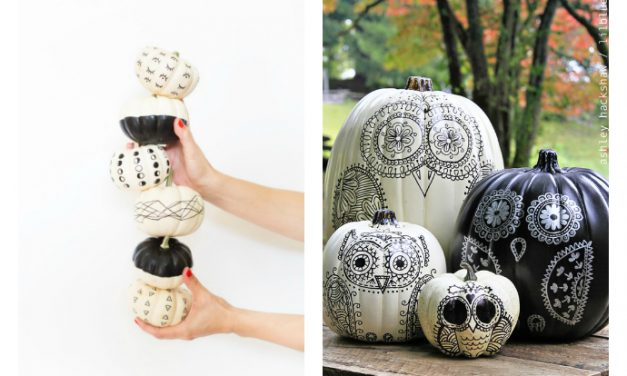 6 super cool ways to decorate pumpkins with black Sharpie. Lazy? Or brilliant!