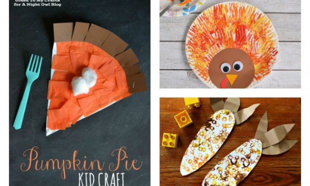 8 fun and easy Thanksgiving crafts for preschool kids beyond tracing a hand to look like a turkey.