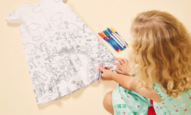 The very cool new color-your-own dress for kids could be the hit of the holidays