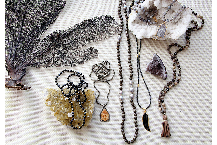 Gold & Gray bohemian chic jewelry for affordable holiday gifts