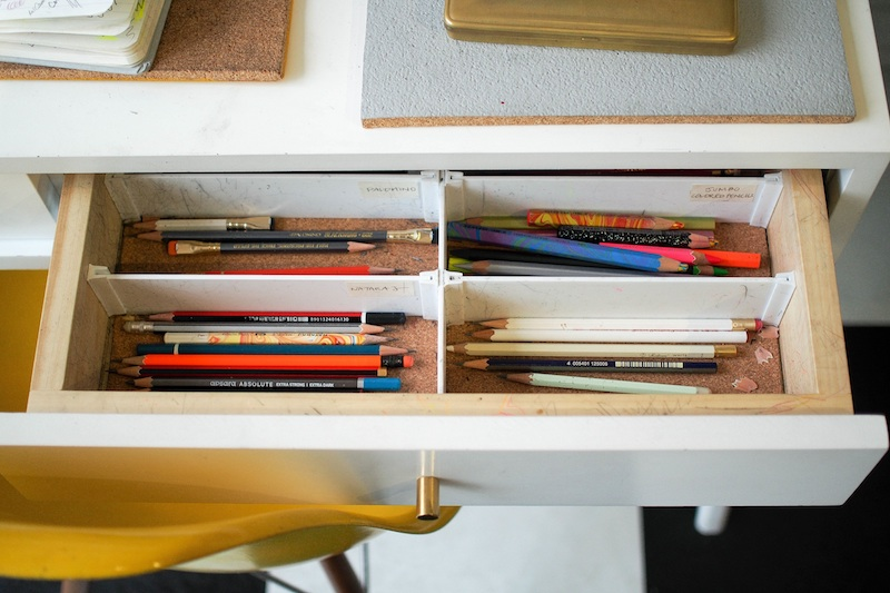 Organizing pencils and small items: A massive time saver!