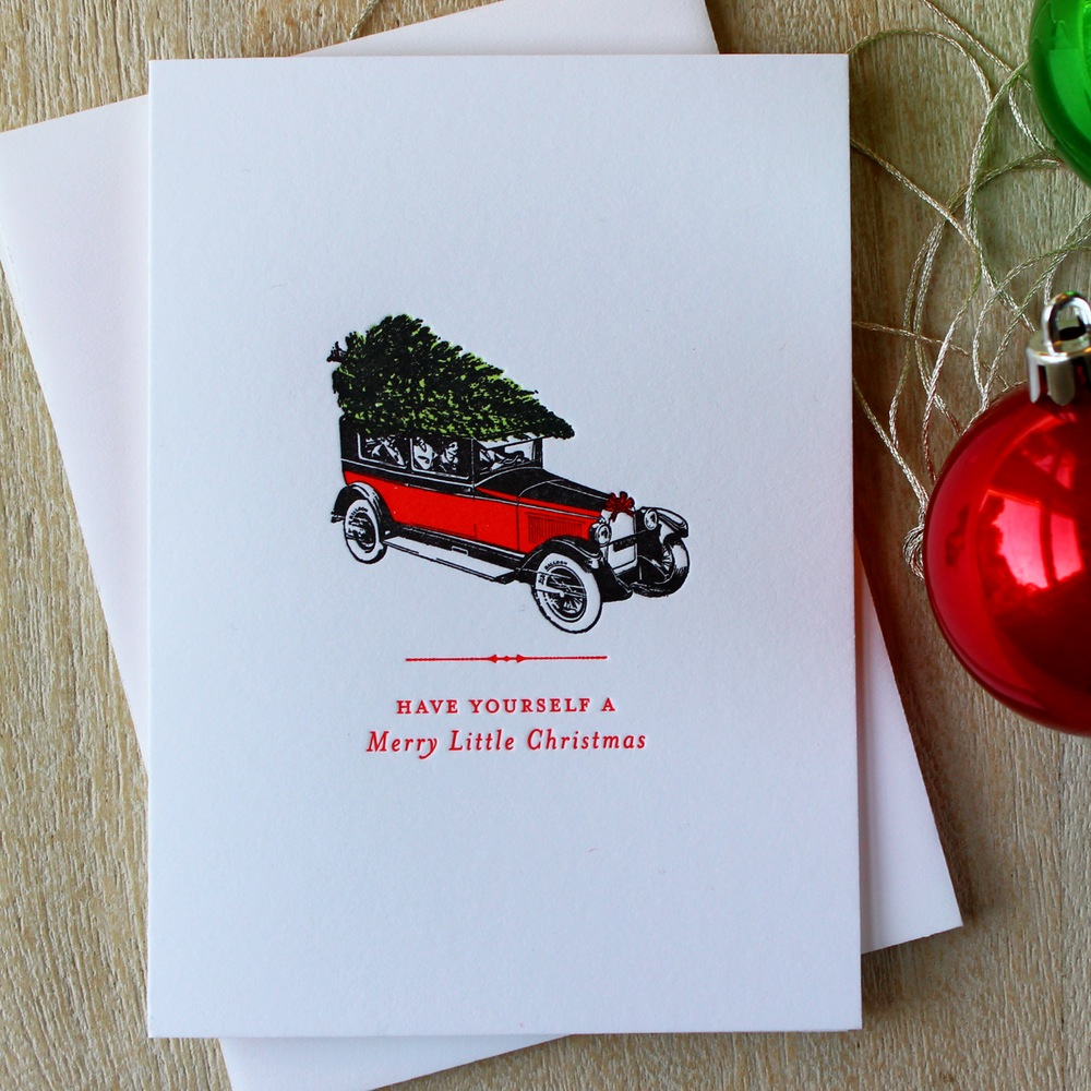 Fabulous handmade letterpress holiday cards from Sesame Letterpress