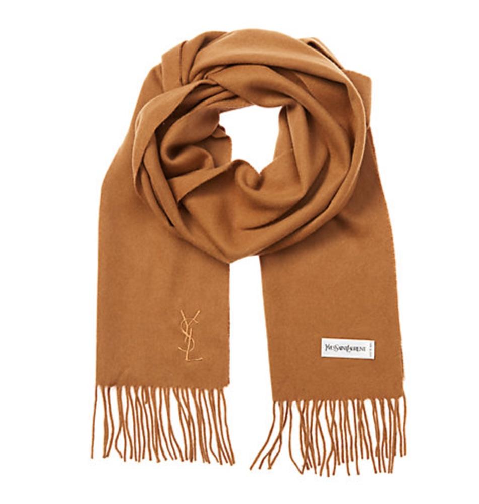 YSL cashmere scarf and more on sale at Rue La La
