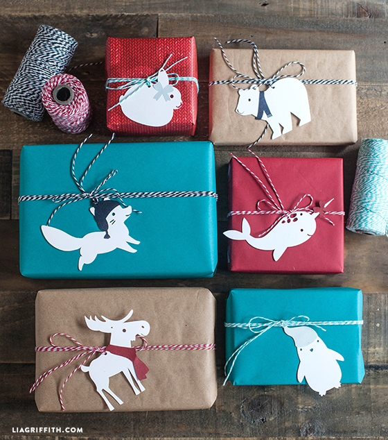 These Arctic Animal printable gift tags from Lia Griffith make us so happy!