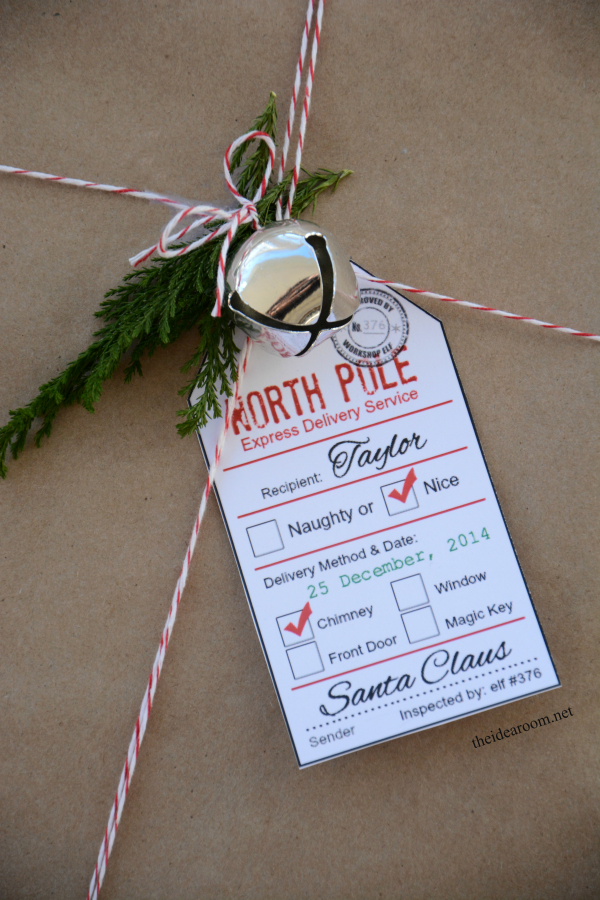These North Pole Express Delivery printable gift tags from The Idea Room are full of Christmas magic.