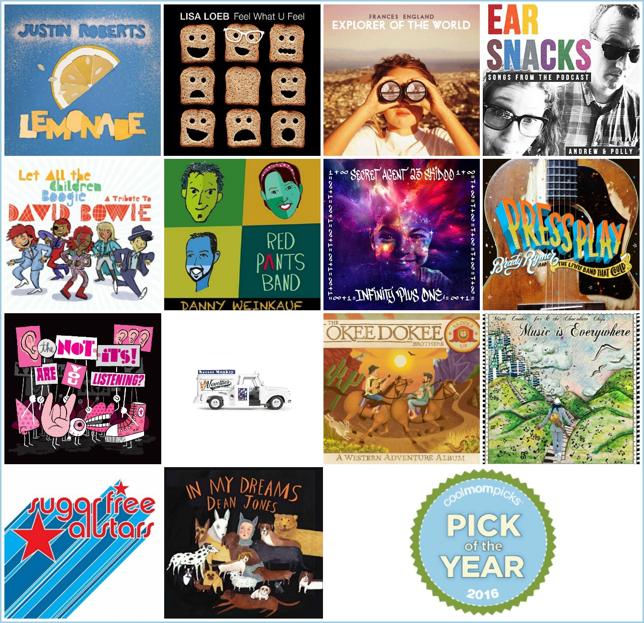 Best Kids Music of 2016: 14 fantastic albums selected by the editors of Cool Mom Picks