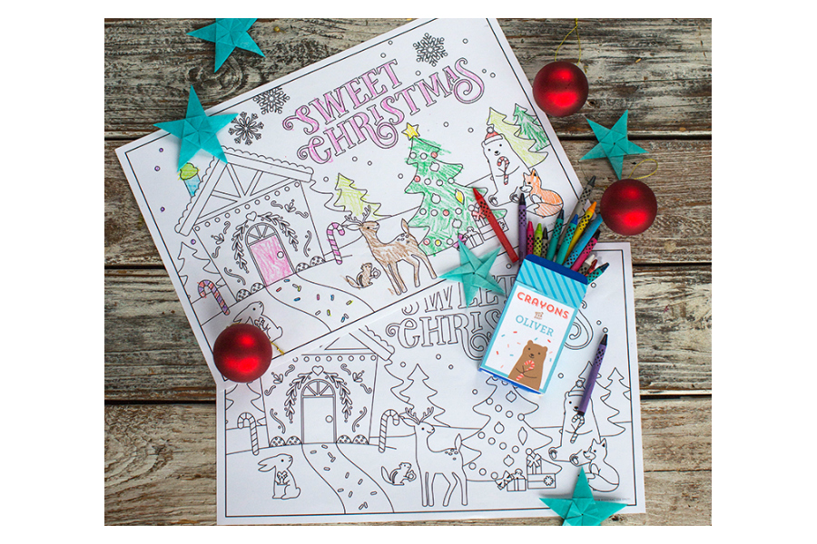 13 of the cutest printable coloring pages for Christmas, to keep kids away from those presents just a little longer.