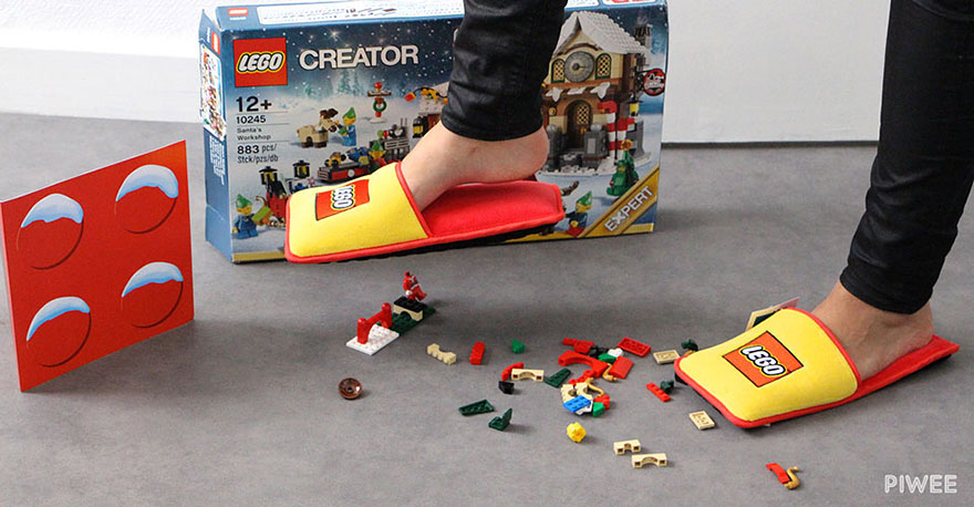 LEGO proof slippers! We all need these!