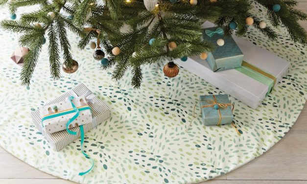 Cool, modern Christmas tree skirts that go with your own home decor, not Grandma's.