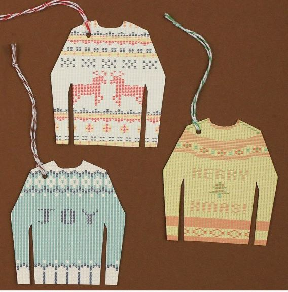 Your gifts will be so cool with these trendy Ugly Sweater printable gift tags from Basic Invite.