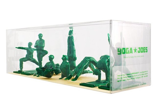 17 irreverent stocking stuffers: Yoga Joes for your favorite peace lover