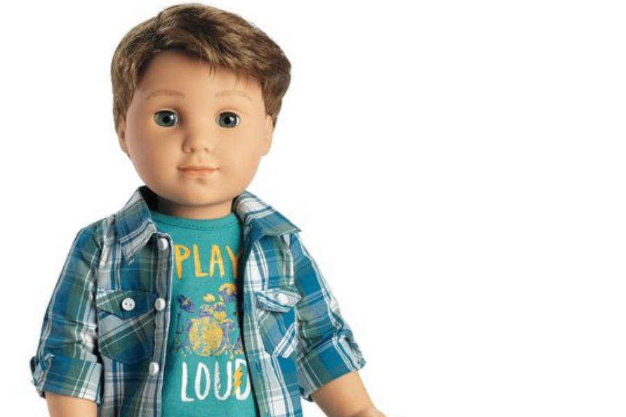 It's a boy! Finally, the first boy in the American Girl Doll line.