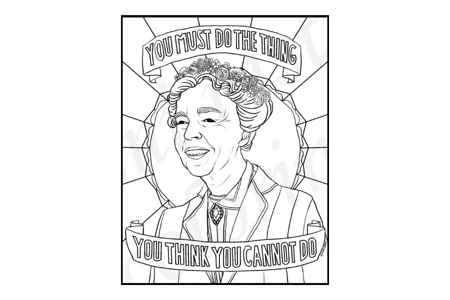 16 fabulous, famous women coloring pages celebrating our favorite boss ladies.