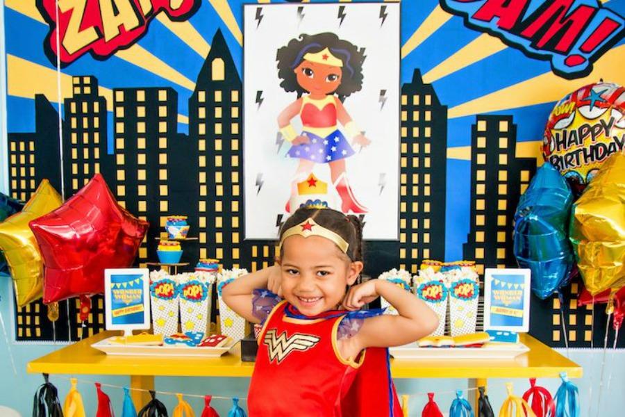 Superhero birthday party ideas our girls will love | via Kara's Party Ideas