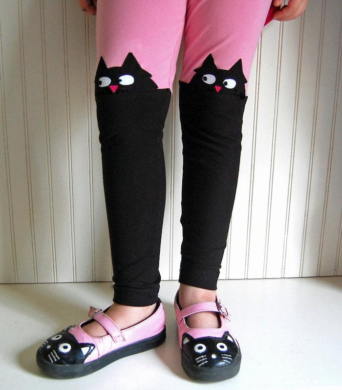 Cool kids' leggings: Cat leggings at The Trendy Tot