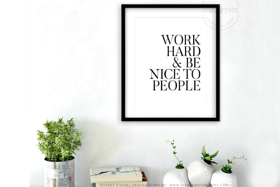 10 inspirational art prints for grads that will encourage them to work hard, be kind, and follow their dreams.