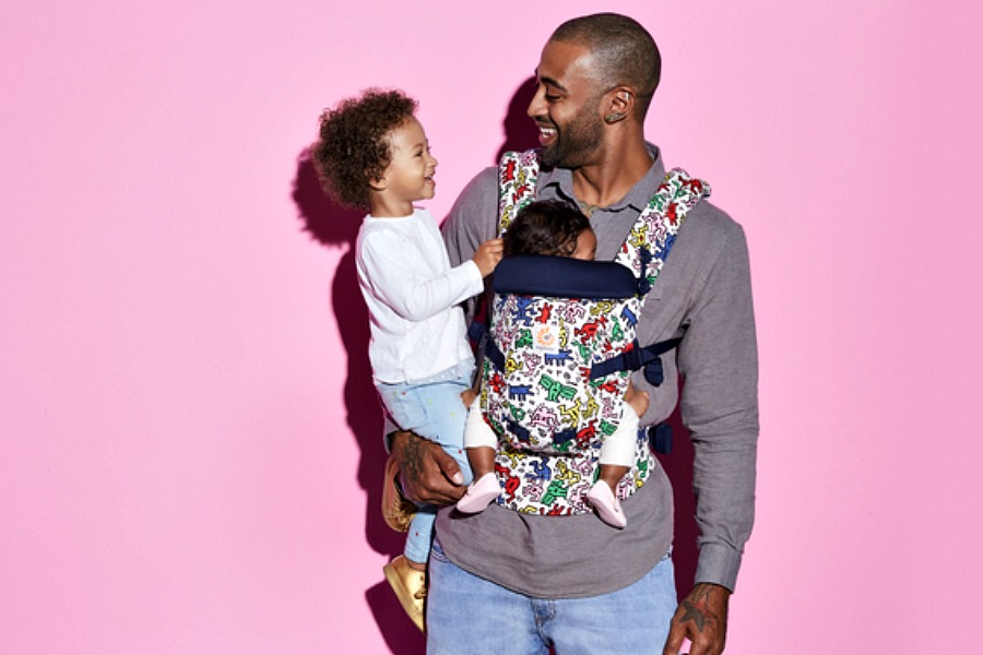 The hipster baby carrier of the year, courtesy of Keith Haring