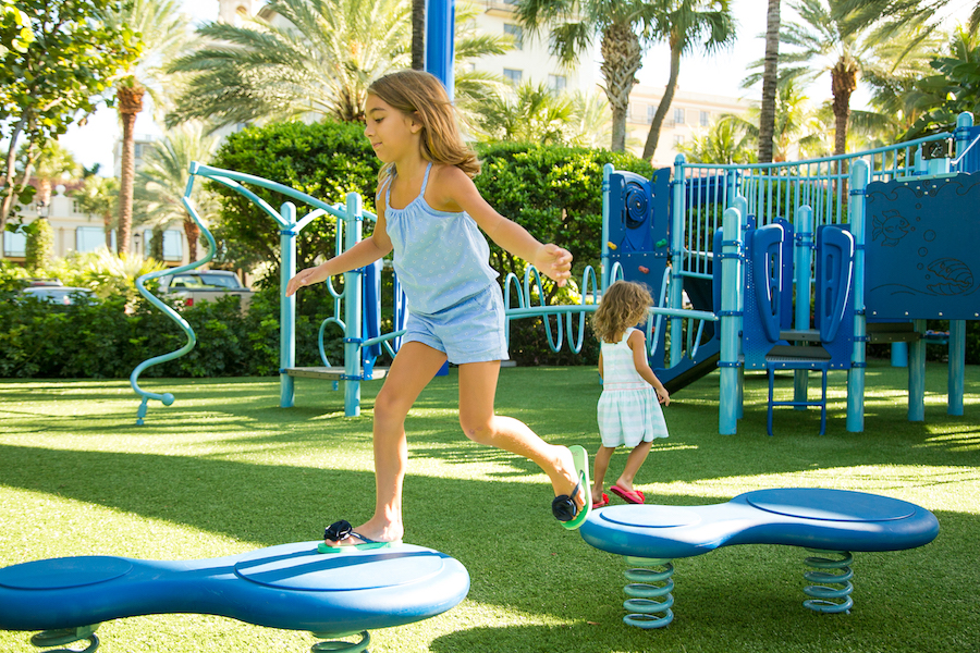 The most amazing hotel amenities for kids and family packages: The 4500 square foot modern playground at The Breakers Palm Beach | coolmompicks.com