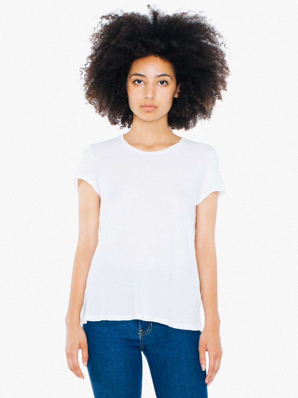 Best white t-shirts for women: American Apparel's 50/1 cotton crewneck t-shirt is hard to find but so worth it | coolmompicks.com