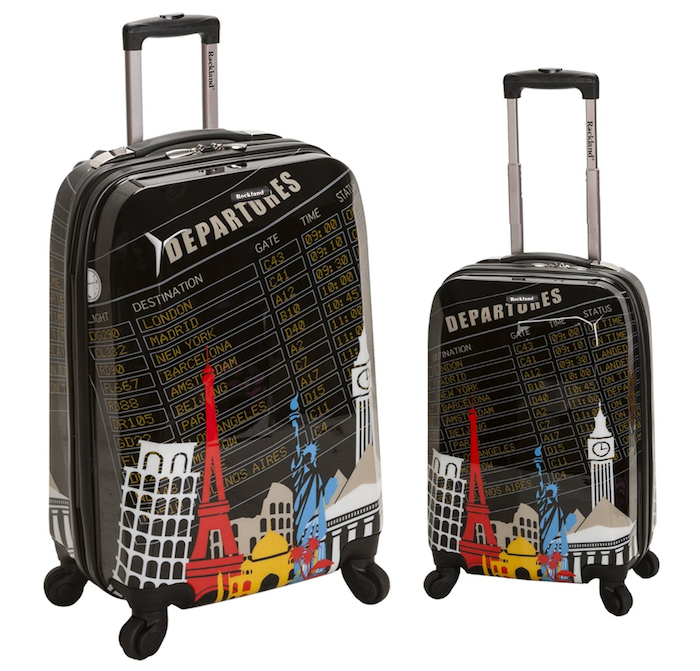 Cool kids' luggage: Departures Upright Luggage Set by Rockland