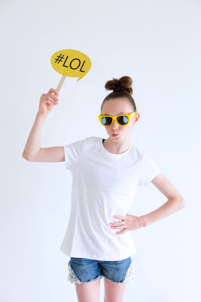 Emoji Party Photobooth Props: Emoji Laughing Glasses | Lillian Hope Designs