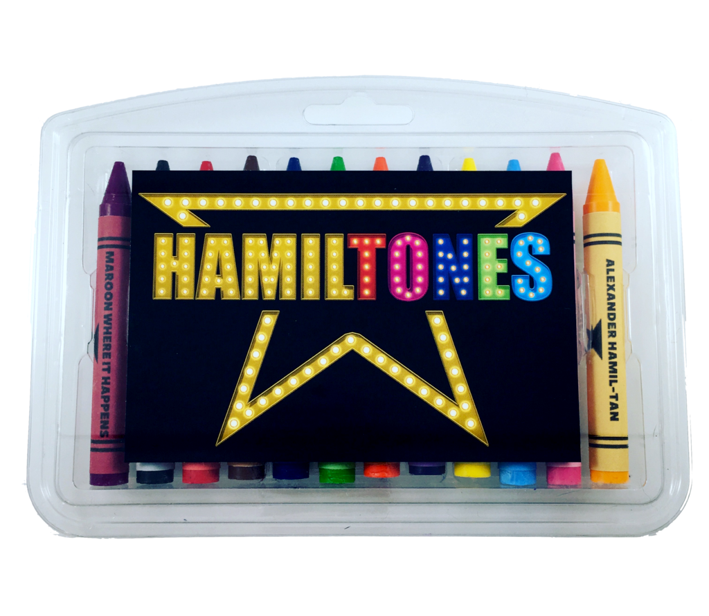 Hamiltones crayons feature colors like Burr'ple and Maroon Where it Happens | coolmompicks.com
