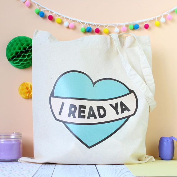 Totes for book nerds: The I Read YA Tote   Fable and Black
