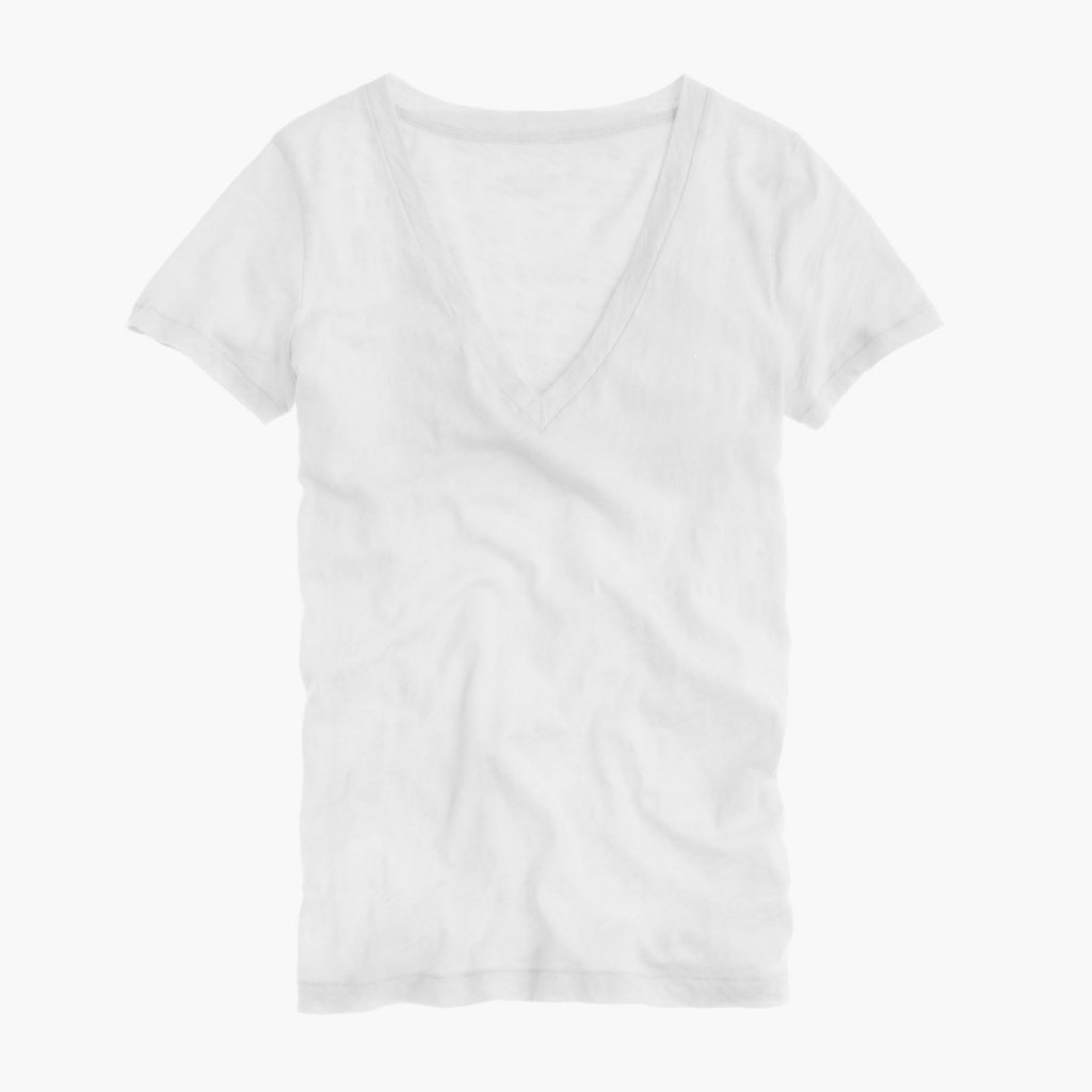 Best white t-shirts for women: J Crew vintage cotton v-neck is a favorite | coolmompicks.com