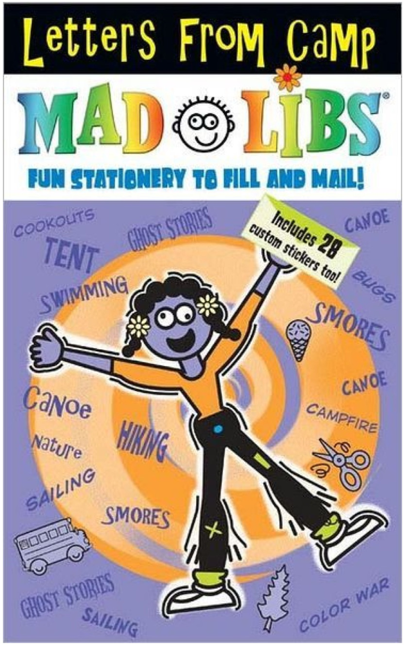 Camp care package ideas: New Letters from Camp Mad Libs are awesome! | coolmompicks.com