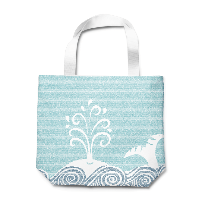 Totes for book nerds: Moby Dick tote  Litograph