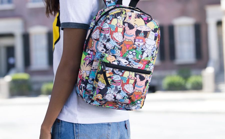 Nickelodeon Nicktoons backpack featuring Rugrats, Ren & Stimpy, Hey Arnold and more at coolmompicks.com