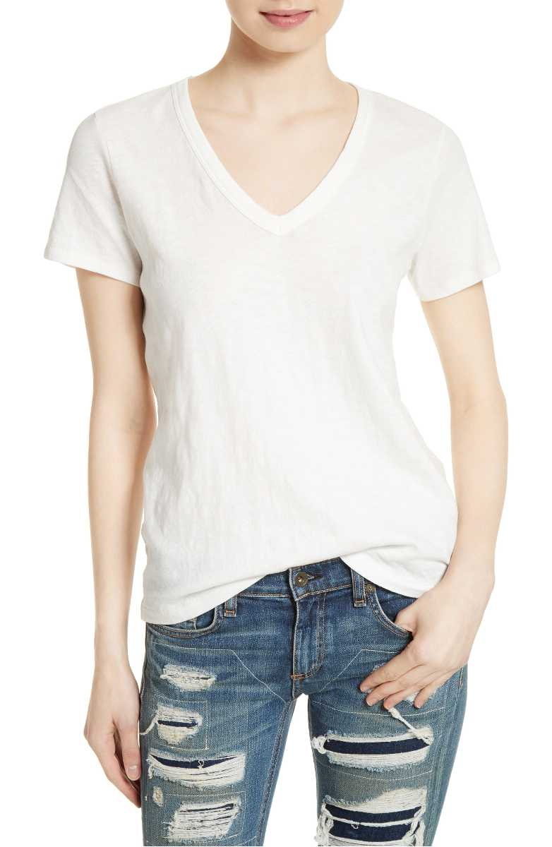 Best white t-shirts for women: Rag & Bone's The Vee Tee is amazing | coolmompicks.com