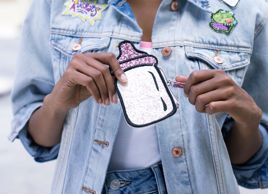 Rugrats retro milk bottle purse from the vintage Nicktoons collection at BoxLunch | coolmompicks.com