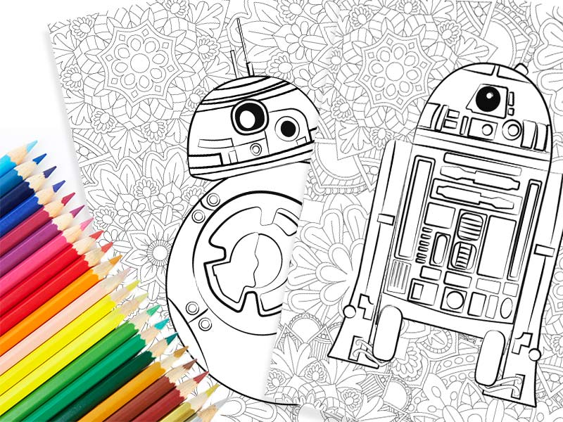 Summer coloring pages for teens: Free Star Wars Mandala | Simple Everyday Mom