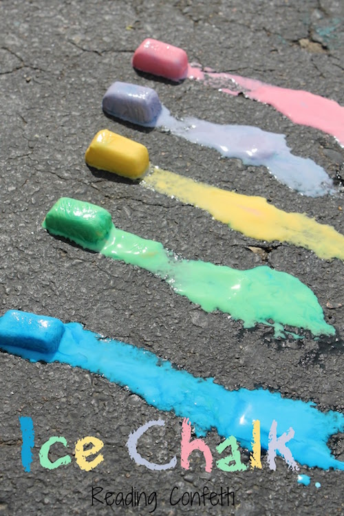 Summer ice activities: Ice Chalk by Reading Confetti